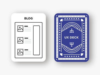 UX Deck deck of cards cards sitemap playing cards ux