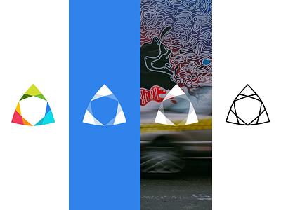 Geometric Logo color logo geometric