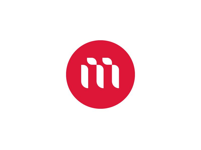 M Logo simple red logo m