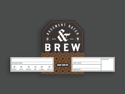 Andbrew badge hand crafted brew label beer