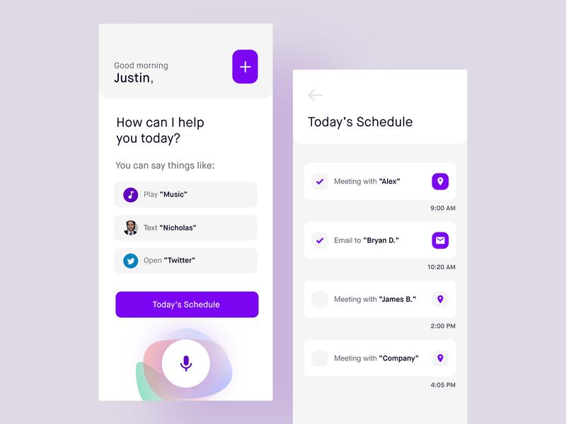 Voice Assistance App - (UI Design)