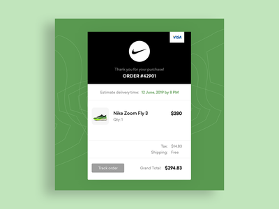 Nike - Email Receipt Concept