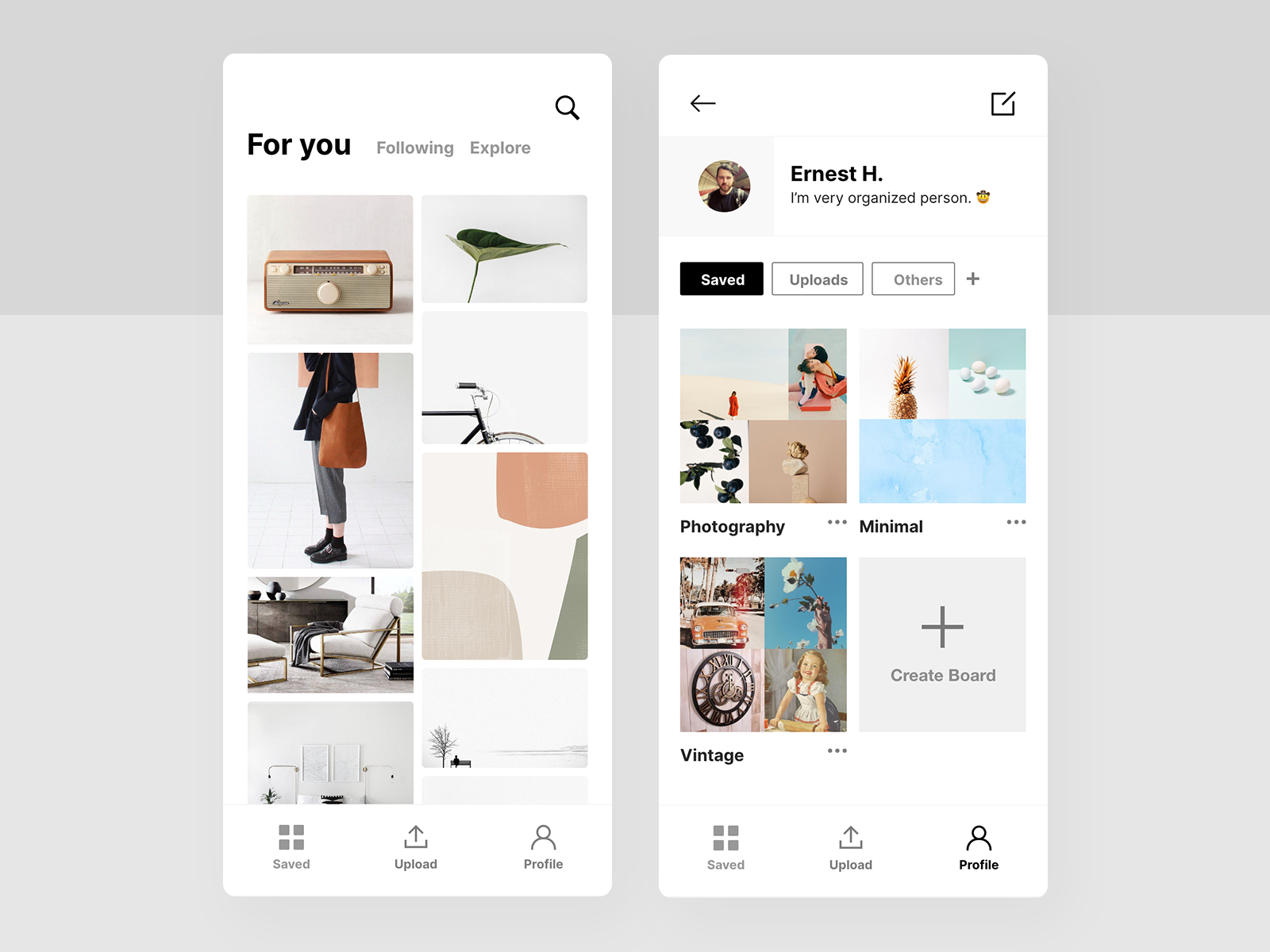 moodboard app concept by nabyl on dribbble