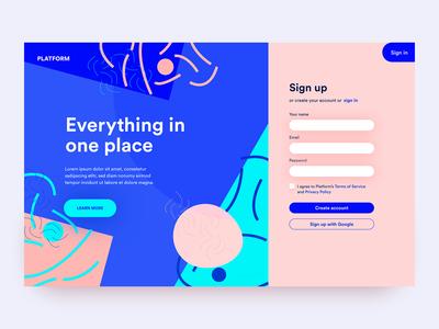 Platform Sign Up - UI