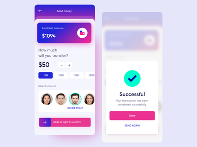 Money Transfer App - Concept