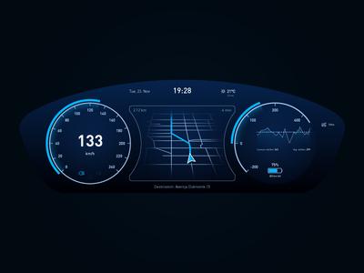Electric Car Dashboard - Weekly UI Challenge S02/W04