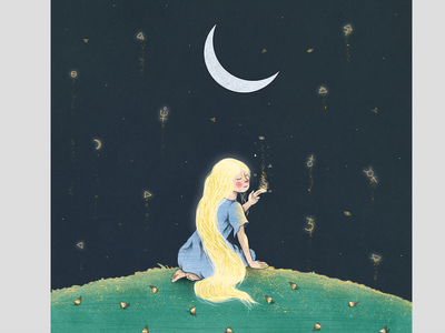 As Above So Below childrensbook fruit botanics nature house lady magic moon illustration kidlitart illozoo rafikillustrate