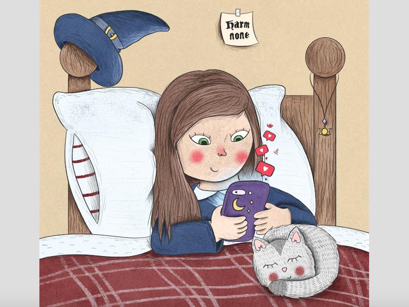 Tech Witch wicca illustrator illustration witch rafikillustrate