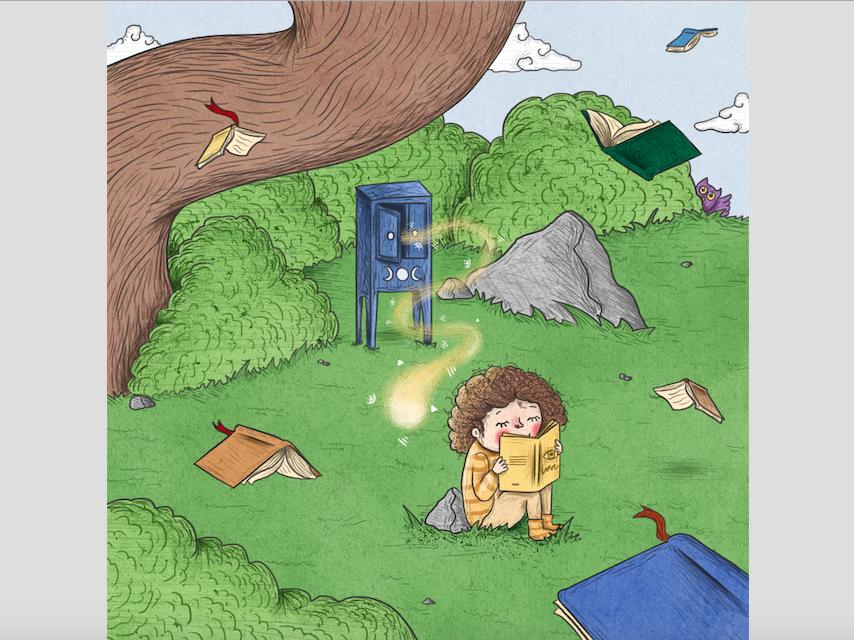 Journey books wicca light rafikillustrate illustration
