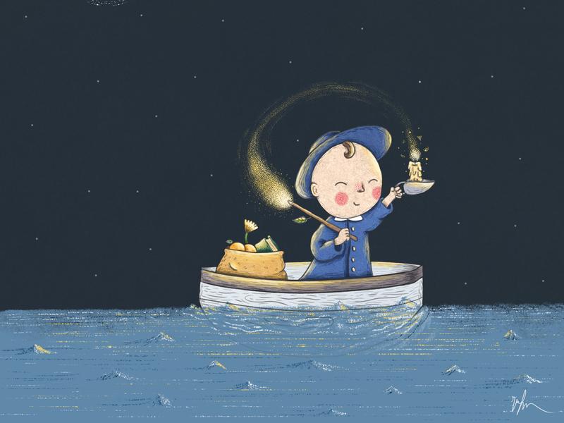 Darkness is your candle illustration agency illustration rafikillustrate