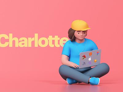 Charlotte 3D character design timeless udhaya designer illustration 3d woman charlotte