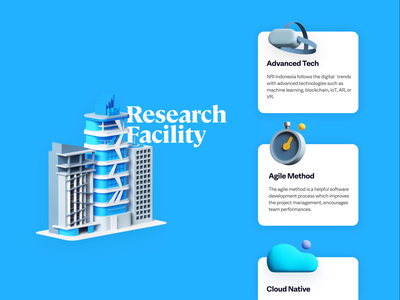 NRI advance features illustration web udhaya timeless building cloud time agile vr research 3d animation