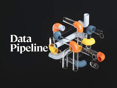Data Pipeline web timeless database code fire running balls workflow work pipeline pipes tube data illustration