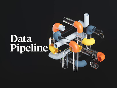 Data Pipeline web timeless database code fire running balls workflow work pipeline pipes tube data illustration