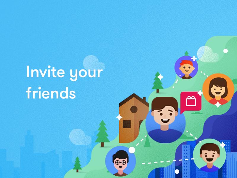 Invite Friends Illustration By Udhaya Chandran Dribbble Dribbble