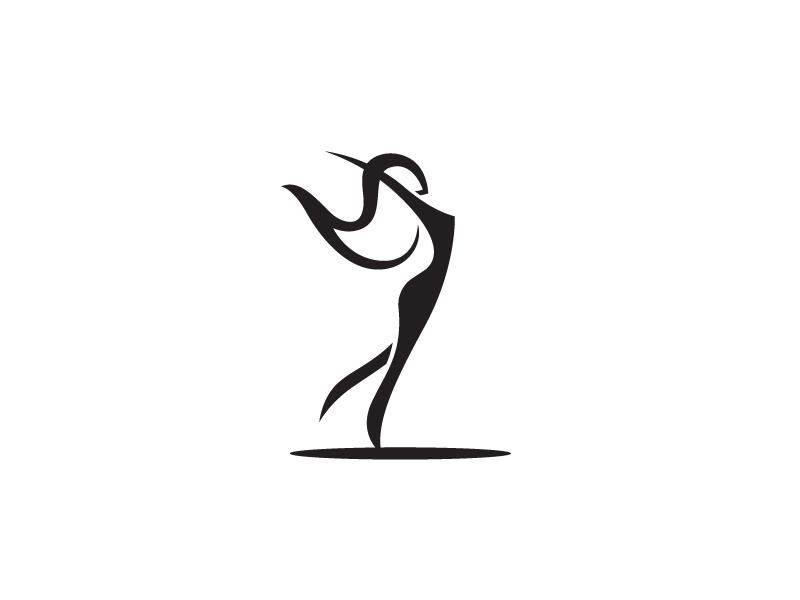 Woman Clothing Logo udhaya ui dancing identity clothing wardrobe logo style standing female woman