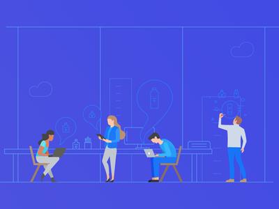Research Team Illustration