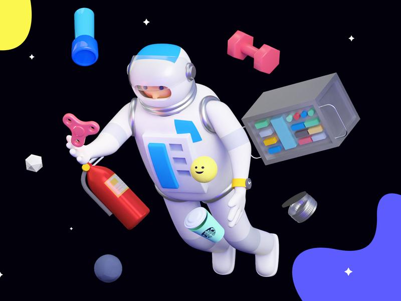 Astronaut spinning fidget
