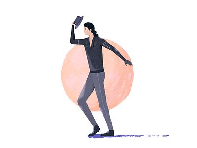 Michael Jackson Unpolished bas udhaya ui design unpolished illustration dance jackson michael brush