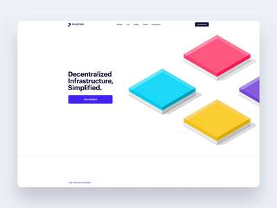 Photon Landing Page (🎉FEATURED) uidesign interaction design technology landing page website timeless decentralization infrastructure photon