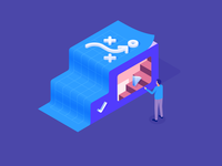Strategy isometric illustration