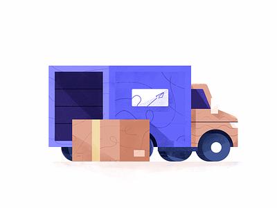 Shipment Truck Illustration cargo truck illustration illustration transport logistics car package parcel truck shipment