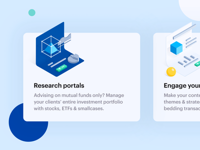 Research Widget illustration web design wall street share market mutual funds isometric cube isometric triangle stock market research portal research icon widget research