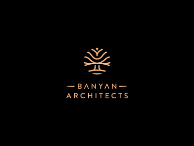 Banyan Architects Branding brand design real estate interior design architects logo logodesign branding