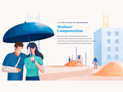 Workers Compensation page design webdesign web design helping construction insurance worker