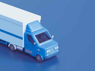 Boxed Trailer trailers truck design timeless udhaya 3d trailer illustration