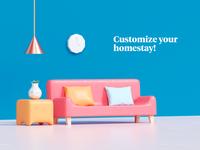 Home customization static version