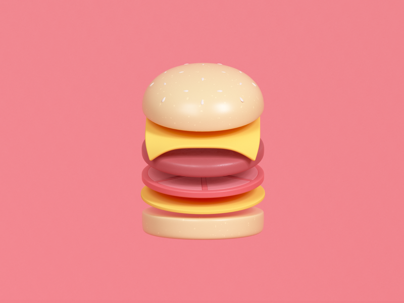 Cheeseburger Illustration burgerking mcdonalds render udhaya timeless 3d junk food patty cheeseburger cheese burger illustration