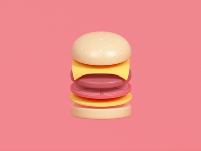 Cheeseburger Illustration burgerking mcdonalds render udhaya timeless 3d junk food patty cheeseburger cheese burger illustration
