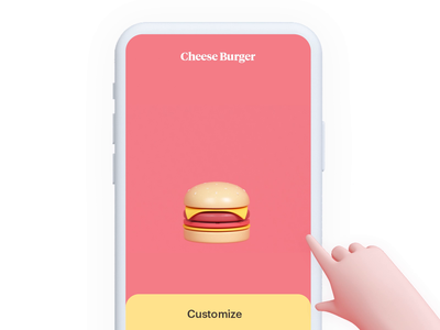 Food selection micro interaction product design ux motion delivery mobile micro interaction food burger zomato ubereats swiggy timeless udhaya