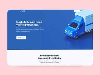Logistics company webpage design illustration website udhaya timeless ecommerce amazon cargo delivery parcel shipment logistics shipping