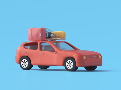 Roadtrip car illustration udhaya timeless ladder can airbnb surfboard luggage gasoline car roadtrip