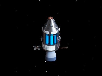 Lunar command module design web illustration solar system universe rotate mission apollo 11 earth moon technology space satellite command module