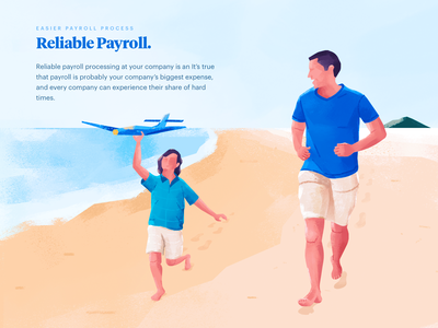 remote payroll processing illustration