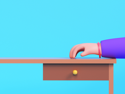 Something awesome is on the way! cinema4d udhaya timeless workdesk finger rigging 3d illustration hand waiting