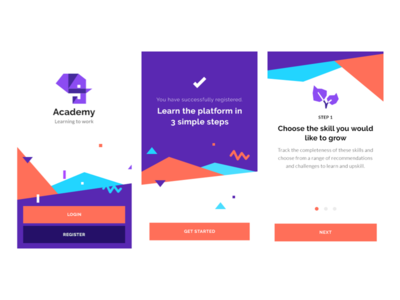 Academy clean illustrator mobile ux minimal flat app icon logo illustration iconography graphic branding typography ui design