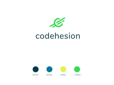 codehesion flat ui logo typography design graphic branding