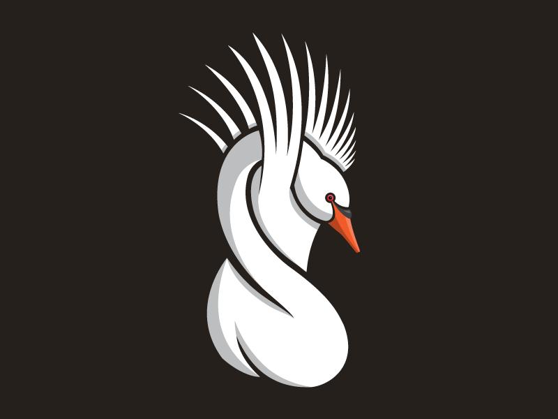 Stylized swan illustration