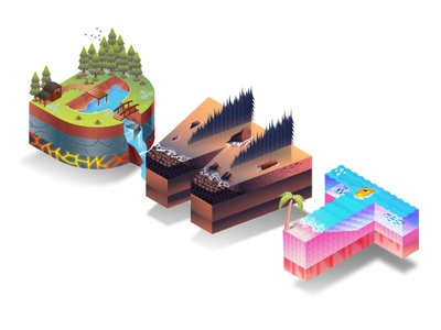 DWT Isometric Letterscape - Put Together