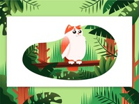 CatOwl illustration design affinitydesigner vector animal illustration art view nature illustration scenery landscape