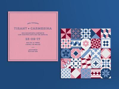 Barcelona Wedding Invitation