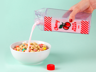 Cherry Water Bottle bottle milkshake water cherry product design
