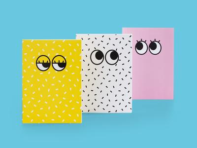 Googly Eyes Notebooks notebook stationery design eyes