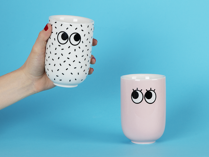 Googly Eyes Mugs product design eyes mug
