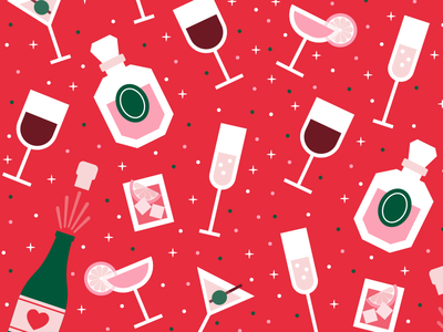 Party Pattern alcohol party pattern illustration vector