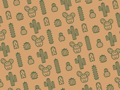 El Cactus Project cactus brand design pattern vector